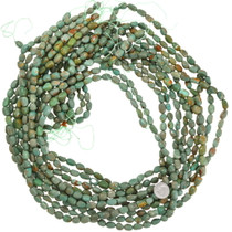 """30"""" Strand Green Turquoise Beads 10mm Nuggets 37137"""