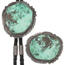 Old Pawn Turquoise Silver Buckle Bolo Tie Set 40412