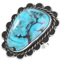 Navajo Vintage Turquoise Silver Ladies Ring 40474