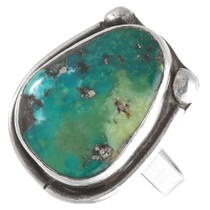 Green Turquoise Old Pawn Navajo Ring 40476