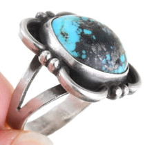 Natural Turquoise Sterling Silver Navajo Ring 40479