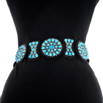 Navajo Turquoise Concho Belt 40480