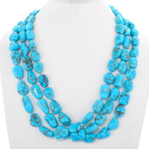 Natural Sleeping Beauty Turquoise Nugget Necklace 40481
