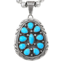 Natural Sleeping Beauty Turquoise Pendant 40482