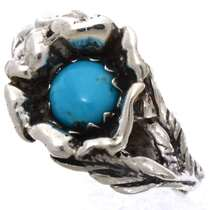 Native American Turquoise Flower Ring 25541