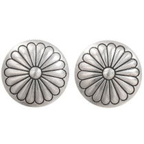Old Pawn Navajo Silver Concho Earrings 40491