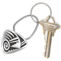 Vintage Hopi Sterling Silver Key Ring 40497