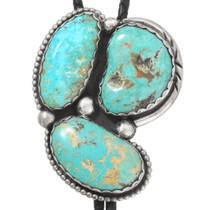 Vintage Turquoise Navajo Silver Bolo Tie 40414