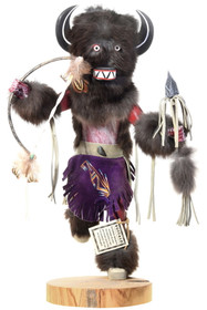 Large Black Buffalo Kachina Doll 40502