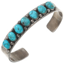 Old Pawn Sterling Silver Turquoise Bracelet 40510