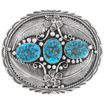 Natural Turquoise Nugget Belt Buckle 19010