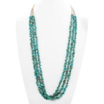 Old Pawn Santo Domingo Turquoise Necklace 40517