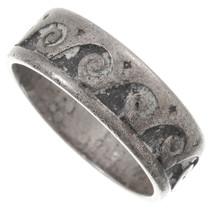 Vintage Hopi Overlaid Silver Ring 40520
