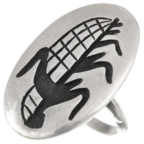 Vintage Hopi Sterling Silver Cornstalk Ring 40522