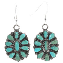 Reversible Turquoise Coral Navajo Earrings 40523