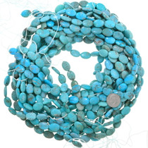 Oval Real Turquoise Beads Per Strand 37140