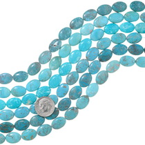 Genuine Kingman Turquoise Oval Beads 37140