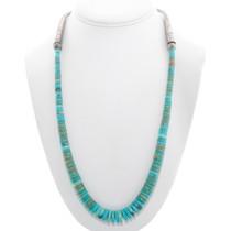 Vintage Kingman Turquoise Heishi Necklace 40527