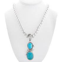 Arizona Turquoise Navajo Pendant Bead Necklace 40530