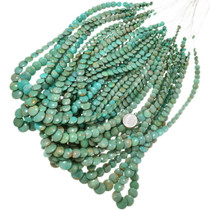 Green Turquoise Beads Top Drilled Overlapping Discs 37146