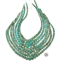 Real Turquoise Beads Graduated Necklace Strand 37146
