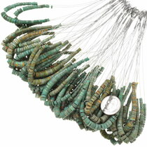 Green Turquoise Heishi Beads 37147