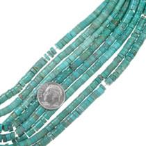 Turquoise Heishi Bead Necklace Strand 37149