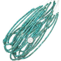 Bright Green-Blue Turquoise Heishi 5mm 37149