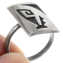 Hopi Geometric Design Sterling Silver Ring 40533