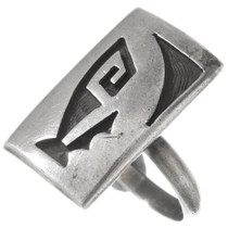 Vintage Hopi Silver Prayer Shrine Ring 40533