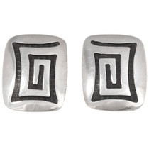 Vintage Hopi Silver Clip On Earrings 40542