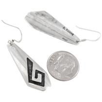 Authentic Hopi Anderson Koinva Silver Dangle Earrings Signed 40543