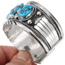 Sterling Silver Arizona Turquoise Bracelet Navajo Made 40545
