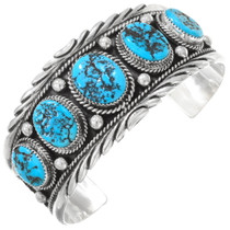 Native American Turquoise Nugget Bracelet 40545