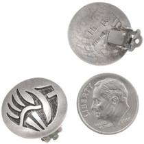 Vintage Hopi Earrings Artist Ramon Dalangyawma Signed 40547