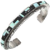 Sterling Silver Opal Native American Bracelet 40556