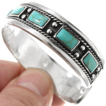Sterling Silver Turquoise Bracelet 40557