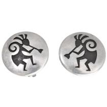 Hopi Sterling Silver Kokopelli Earrings 40561