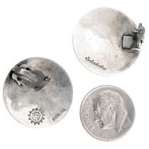 Authentic Hopi Artist Sidney Sekakuku Silver Earrings Signed 40561