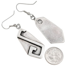 Authentic Hopi Arthur Yowytewa Silver Earrings Hallmark 40563