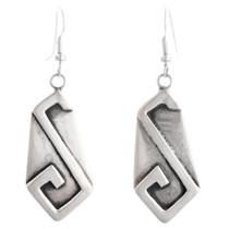 Vintage Hopi Silver Dangle Earrings 40563