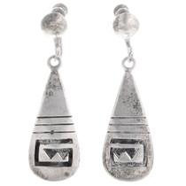 Sterling Silver Hopi Earrings 40564