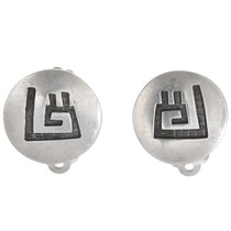 Vintage Hopi Sterling Silver Earrings 40566