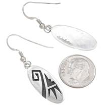 Hopi Tribe Artist Sidney Sekakuku Silver Earrings Signed 40567