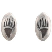 Sterling Silver Hopi Bear Paw Earrings