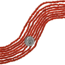Red Coral Heishi Beads 37160