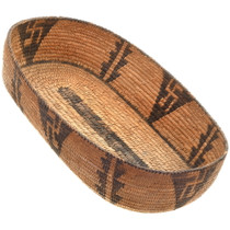 Antique Whirling Log Pima Indian Basket 40580