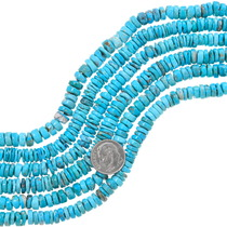 Natural Turquoise Heishi Beads 37163