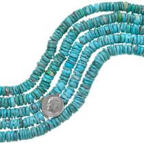 Natural Turquoise Heishi Beads 37164