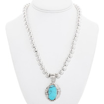 Sterling Silver Turquoise Native American Pendant 40592